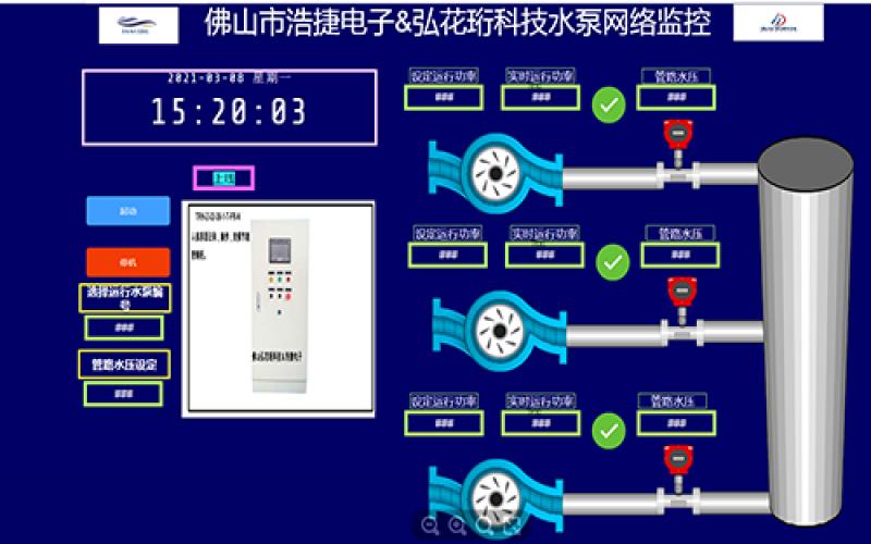 水泵网络监控,水泵水压手机APP网络监控,液压泵无线网络监控